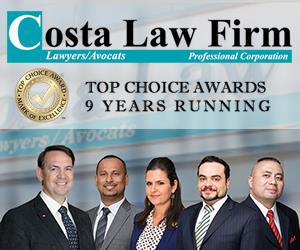 Costa Law Firm | Toronto's Lawyers Offering Full Range of Services
